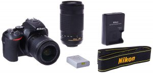 Nikon D5600 DSLR with 18-55mm f 3.5-5.6G VR and 70-300mm f 4.5-6.3G ED