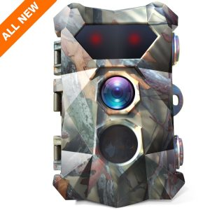Bancliff 16MP 1080P Trail Camera 120° Wide Angle Fast Trigger Time 2.4 LCD Screen Waterproof Wildlife Outdoor Security Monitor Hunting Game Cam