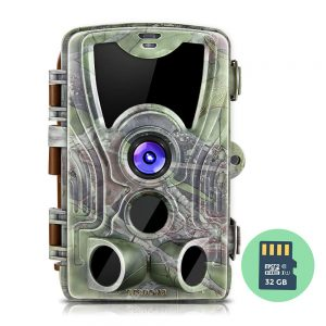 Crenova 16MP 1080P HD Trail Camera, 2019 Upgraded IP66 Waterproof Game Camera with 120° Wide Detection Angle, Updated 42pcs 940nm IR LEDs Perfect for Wildlife Observation, Hunting & Home Security
