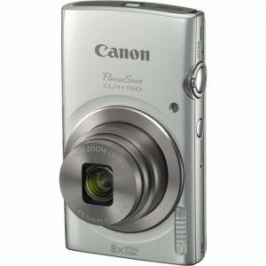 Canon PowerShot ELPH 180 20MP 8X Zoom Digital Camera (Silver)