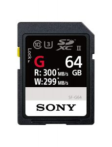 Sony SF-G64 High Performance 64GB SDXC UHS-II Class 10 U3 Card