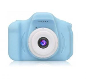 DDGG Kids Digital Camera for Girls Age 3-10,Toddler Cameras Child Camcorder Mini Cartoon Blue Rechargeable Camera Shockproof 8MP HD Children Video Record Camera (16GB Memory Card Included)