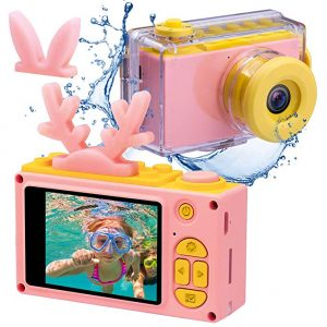 Kids Digital Cameras for Boys HD 1080P Video Camera for Kids Children Selfie Camera Kids Toy Cameras Mini Child Camcorder for Age 3-10 Boys Girls Pink(Memory Card Not Included)