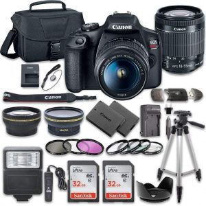 Canon EOS Rebel T7 DSLR Camera Bundle