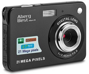 AbergBest 21 Mega Pixel 2.7inches Rechargeable Hd Digital Camera